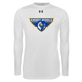 Under Armour White Long Sleeve Tech Tee-Athletic Mark