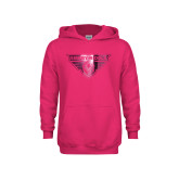 Youth Hot Pink Fleece Hoodie-Athletic Mark  Foil