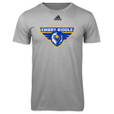 Adidas Climalite Sport Grey Ultimate Performance Tee-Athletic Mark