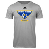 Adidas Climalite Sport Grey Ultimate Performance Tee-Athletic Mark - Arizona