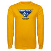 Gold Long Sleeve T Shirt-Athletic Mark - Arizona Distressed