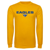 Gold Long Sleeve T Shirt-Eagles