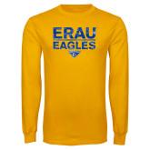 Gold Long Sleeve T Shirt-ERAU Eagles