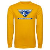 Gold Long Sleeve T Shirt-Womens Basketball