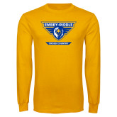 Gold Long Sleeve T Shirt-Cross Country