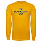 Gold Long Sleeve T Shirt-Basketball Sharp Net