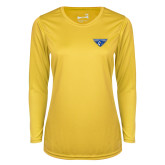 Ladies Syntrel Performance Gold Longsleeve Shirt-Athletic Mark