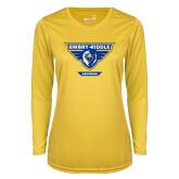 Ladies Syntrel Performance Gold Longsleeve Shirt-Athletic Mark - Arizona