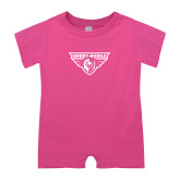 Bubble Gum Pink Infant Romper-Athletic Mark