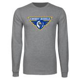 Grey Long Sleeve T Shirt-Athletic Mark