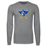 Grey Long Sleeve T Shirt-Athletic Mark - Arizona