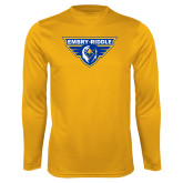 Performance Gold Longsleeve Shirt-Athletic Mark