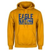 Gold Fleece Hoodie-Eagle Nation