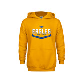 Youth Gold Fleece Hoodie-Softball Plate