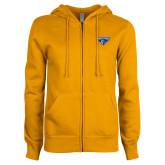 ENZA Ladies Gold Fleece Full Zip Hoodie-Athletic Mark