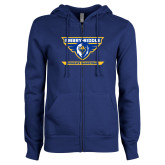 ENZA Ladies Royal Fleece Full Zip Hoodie-Womens Basketball