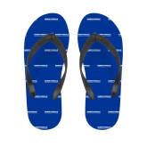 Ladies Full Color Flip Flops-University Mark
