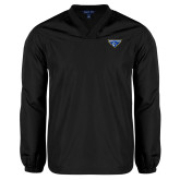 V Neck Black Raglan Windshirt-Athletic Mark