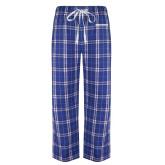 Royal/White Flannel Pajama Pant-Embry-Riddle Aeronautical University