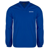 V Neck Royal Raglan Windshirt-University Mark