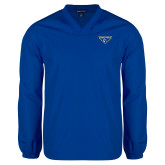 V Neck Royal Raglan Windshirt-Athletic Mark