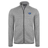 Grey Heather Fleece Jacket-Athletic Mark
