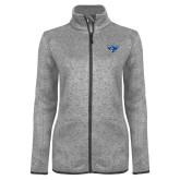 Grey Heather Ladies Fleece Jacket-Athletic Mark