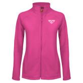 Ladies Fleece Full Zip Raspberry Jacket-Athletic Mark