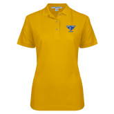 Ladies Easycare Gold Pique Polo-Athletic Mark - Arizona
