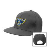 Charcoal Flat Bill Snapback Hat-Athletic Mark