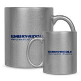 Full Color Silver Metallic Mug 11oz-University Mark