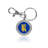 Crystal Studded Round Key Chain-ER