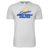 Next Level SoftStyle White T Shirt-Embry Riddle Athletics