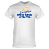 White T Shirt-Embry Riddle Athletics