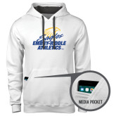 Contemporary Sofspun White Hoodie-Embry Riddle Athletics