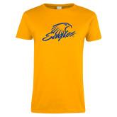 Ladies Gold T Shirt-Eagles