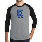 Grey/Black Tri Blend Baseball Raglan-ER