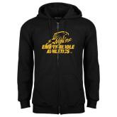 Black Fleece Full Zip Hoodie-Embry Riddle Athletics