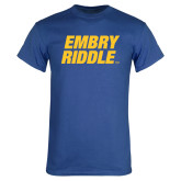Royal T Shirt-Embry Riddle Stacked