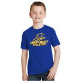 Youth Royal T Shirt-Embry Riddle Athletics
