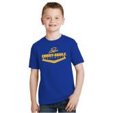 Youth Royal T Shirt-Baseball Plate