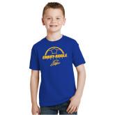 Youth Royal T Shirt-Soccer Ball