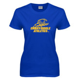 Ladies Royal T-Shirt-Embry Riddle Athletics