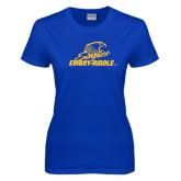 Ladies Royal T-Shirt-Primary Mark Distressed