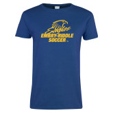 Ladies Royal T-Shirt-Soccer