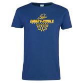 Ladies Royal T-Shirt-Basketball Net