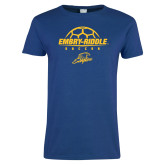 Ladies Royal T-Shirt-Soccer on Top