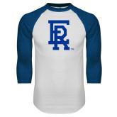 White/Royal Raglan Baseball T Shirt-ER