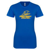 Next Level Ladies SoftStyle Junior Fitted Royal Tee-Embry Riddle Athletics