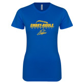 Next Level Ladies SoftStyle Junior Fitted Royal Tee-Baseball Threads